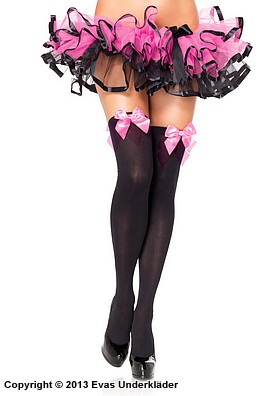 Stockings med rosetter, plus size, 8
